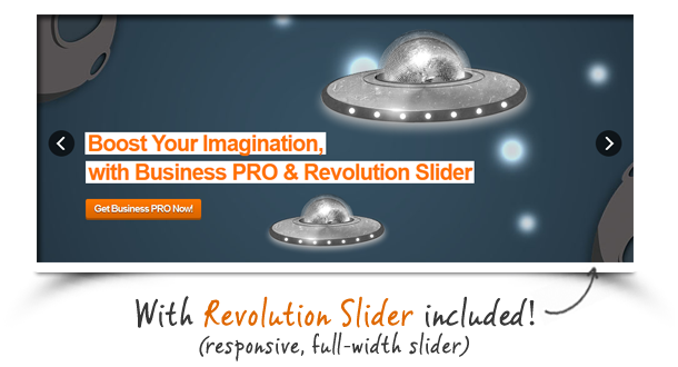 revolution slider - Business Pro - Clean Responsive Joomla Template