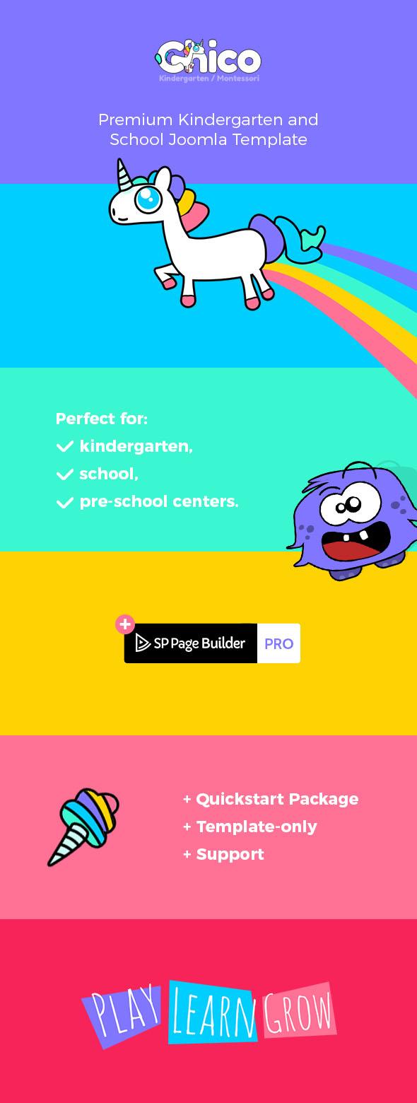 Chico - Premium Kindergarten and School Joomla Template - 1