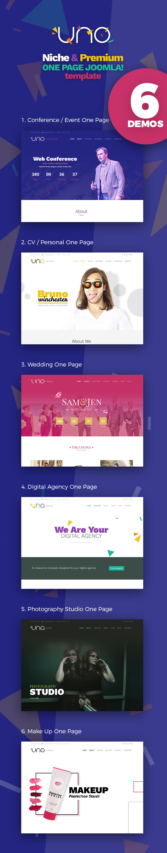 Uno - Premium Niche One Page Joomla Template - 1