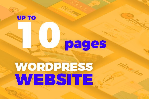 WordPress Website up to 10 pages