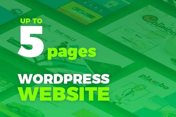 WordPress Website up to 5 pages