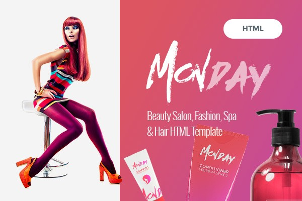 Monday - Professional HTML Template for Hair and Beauty Salon, Fashion, Spa, Spray Tan