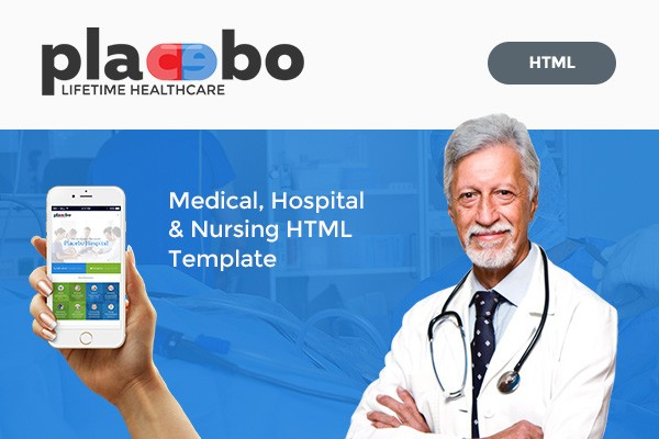 Placebo – Medical, Clinic, Hospital, Nursing Home HTML Template