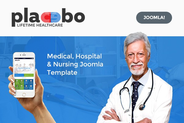 Placebo – Medical, Clinic, Hospital, Nursing Home Joomla Template